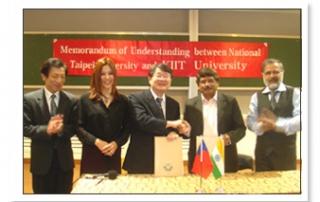 MOU with National Taipei University (NTPU) Taiwan
