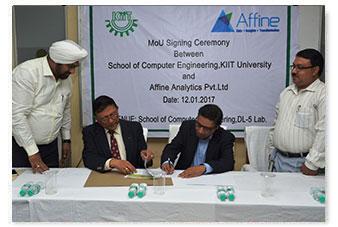 MoU with Affine Analytics Pvt. Ltd