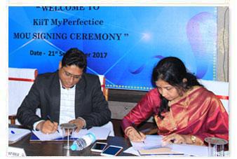 MoU Signing Ceremony Between My Perfectice & KIITU in progress.