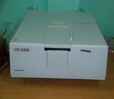 UV-VIS Spectro Photometer Model: UV-2450 (SHIMADZU,JAPAN) 300-900nm