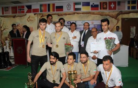 Iran Team Champion in Asian Cities Chess Championship
